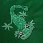 ein gecko für Chrischi, auf ihrem Lieblingsshirt