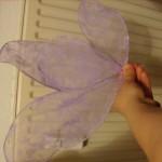 Und dann diesen filigrane lila Drahtgebinde?
