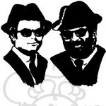 Spencer und Hill als Blues Brothers