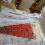 Als Deko wurde gepunktet... Tiffys Tochter war der Überzeugung es sähe nun aus wie eine Erdbeere ^^